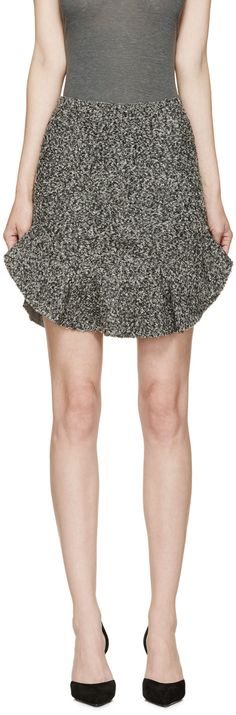 Isabel Marant - Grey Bouclé Drye Mini Skirt