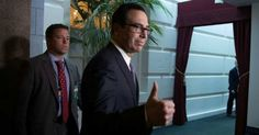 U.S. Treasury Secretary Steven Mnuchin gives a thumbs up as he arrives at a House Republican Conference meeting September 8, 2017 at the Capitol in Washington, D.C. (Photo: Alex Wong/Getty Images)