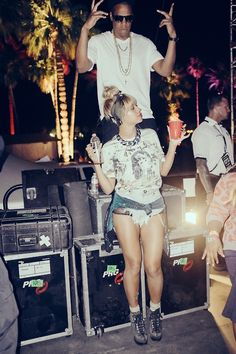 Bey and Jay at Coachella 2014. Photo Credit: Robin Harper