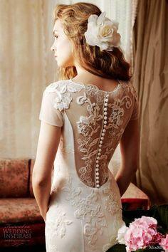 MiaMia Alan Hannah Spring Bridal Collection ♥ Gorgeous Lace Back Button Wedding Dress
