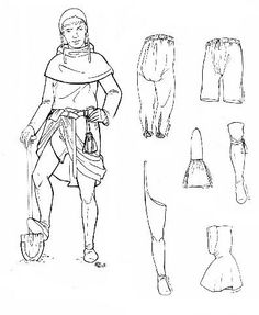 Hose  10th and 11th Centuries  Hose were leg covering that were tied at the knee.They helped protect the leg, and provided warmth.  Found at: