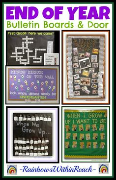 End of Year Bulletin Boards and Door Decorations via RainbowsWithinReach #EOY #BulletinBoards #Kinderchat