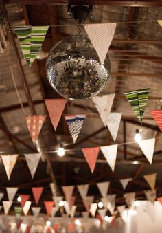 // Warehouse wedding DIY-wedding-bunting-decorations-inspiration-short-bridal-gown-dress-warehouse7