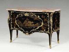 Bernard II Van RISEN BURGH lacquer and Martin varnish Commode for Mary Leczinska's cabinet at Fontainebleau, delivered in (Stamped B. Architectural Antiques, Grand Palais, Entryway Tables, Louvre, Sculpture, Architecture, Mary, Museum, France
