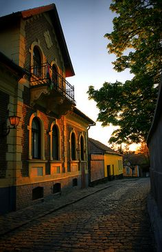 The peaceful streets of the town of Szentendre, just north of Budapest, Hungary