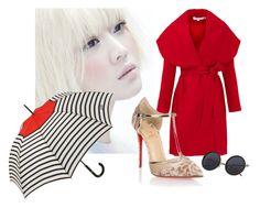 """red japonese"" by pamelacarneiro on Polyvore featuring moda, Keepsake the Label, Christian Louboutin e Jean-Paul Gaultier"