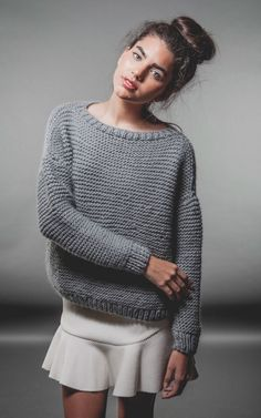 I love this sweater!!! Classic Sweater - Buy Wool, Needles & Yarn Sweaters - Buy Wool, Needles & Yarn Knitting kits | WE ARE KNITTERS