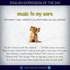 Music to my ears - english idiom