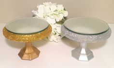 Mini cake stand / Smash cake stand / Silver by CocktailNConfettiCo