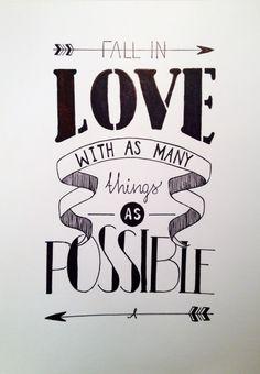 #handlettering Fall in LOVE