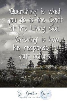 Grieve the Spirit of