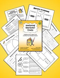 Analyzing Character Traits - This 23-page packet includes a variety of…