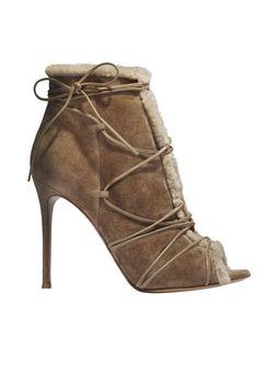 Gianvito Rossi booties, $1,230, similar styles available at shopBAZAAR.com.