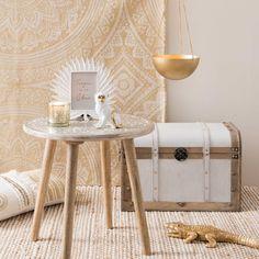 Housse de coussin en coton et blanc 30x50 | Maisons du Monde