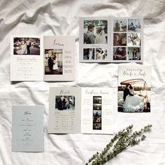 M【プロフィールブック】8P / 見開きA4サイズ [30部30,000円~] 60種類以上のページよりカスタム Invitation Cards, Wedding Invitations, Diy Wedding, Wedding Photos, Photo Wall, Wedding Inspiration, Paper, Frame, Album