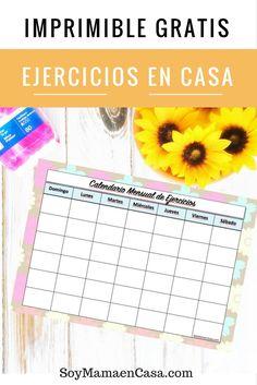 Ideas de ejercicios en casa para estar activa todo el mes y un imprimible gratis…