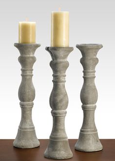 Crestview Collection Malta Pillar Candle Holder Set of 2