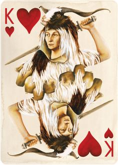 Uusi's Suicide King of Hearts from the Pagan deck.