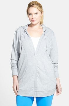 Zella 'Urban Zen' Hooded Cardigan (Plus Size)