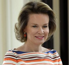 Queen Mathilde of Belgium met with Dr. Jim Yong Kim, President of the World Bank Group at the Royal Palace on June 15, 2016 in Brussels, Belgium.