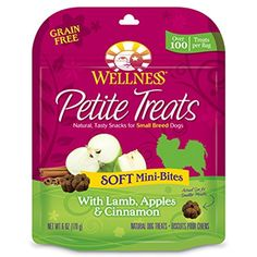 Wellness Petite Treats Small Breed Soft Natural Grain Free Dog Treats, Lamb & Apples, 6-Ounce Bag - You could find out more details at the link of the image. (This is an affiliate link and I receive a commission for the sales)