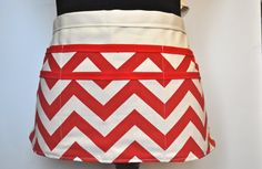 Chevron utility Apron Women's Vendor ApronRed by CraftyMom75