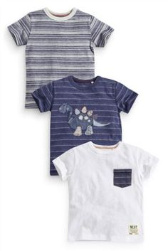 Buy Three Pack Dino Appliqué T-Shirts (3mths-6yrs) online today at Next: United States of America