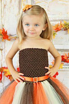 Newborn Size 9 Sparkly Glitter Fall/Autumn Tutu by krystalhylton