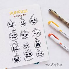 Its time for all things creepy and scary! I gathered for you tutorials, banners, drawings and other ideas to help you set up Halloween Bullet Journal theme.