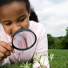 Take a magnifying glass to a park. Hunt for a stone with lines, a buttercup, a pinecone, a feather, and a leaf. Take turns examining each item up close. Look for bugs and insects, then recreate them. Give rocks a coat of paint and let dry. Then, in another color, add spots or stripes. Glue on a set of googly eyes. Once the rocks dry, enjoy your new pets.