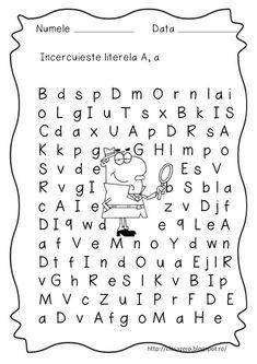 Fise litere | CLASA PREGATITOARE Preschool Activities, Alphabet, Montessori, David, Double Deck Bed, 1st Grades, Alpha Bet, Kindergarten Activities