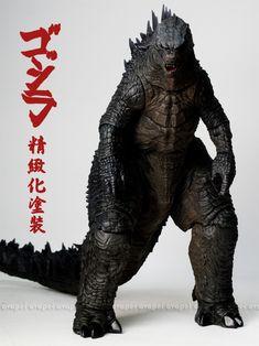 """NECA 24"""" Godzilla 2014 repainted by Avapei http://avapei.pixnet.net/blog/post/186074733"""