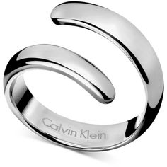 Calvin Klein Stainless Steel Embrace Bypass Ring (96 AUD) ❤ liked on Polyvore
