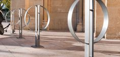 Cycle stand composed by two connected semi-circle shapes in thick steel plate, connected with horizontal supports with baseplate. Can also be used as a modular barrier. —————————————————– See also project: – Magenta Place – Italy