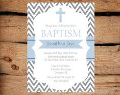 Invitación de bautizo bautizo bautismo azul invitación por JRTDaisy