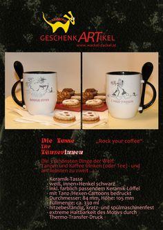 """""""Rock your coffee"""", die Tasse für TänzerInnen"""