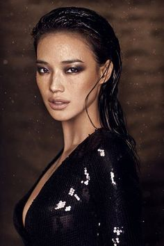 Gorgeous shot by photographer Chen Man, I think it might be Shu Qi the actress, but whoever she is... HOT!