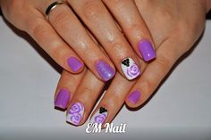 #fiolet #roze #nail #EMnail #syrenka #akryl