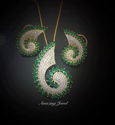 Ring Necklace, Earrings, Pakistani Jewelry, Swarovski Stones, Pendant Set, Jaipur, Sterling Silver Jewelry, Jewelry Collection, Jewelery