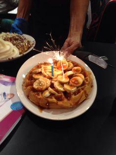 Sprinkles gelato waffles