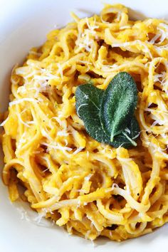 Yummy Butternut Squash Pasta Recipe With Parmesan, Nutmeg and Sage