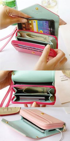 A perfect clutch for my iphone 6S. Choose the pink! Iphone Crown Wallet Multifunctional Phone Wallet  #wallet #crown #phone #clutch #cute #bag