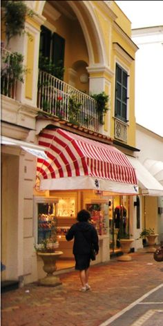 Lovely shops and cafes ~ Island of Capri, Italy.