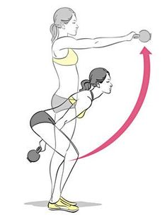 Kettlebell swings shape and tone your whole body!.. i do this all the time.. and let me tell you... it works!