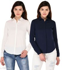Shirts  Ravishing Polyester Shirt  *Fabric* Polyester  *Sleeves* Full Sleeves Are Included  *Size* S - 34 in, M - 36 in, L - 38 in, XL - 40 in  *Length* Up To 27 in  *Type* Stitched  *Description* It Has 2 Pieces Of Shirt  *Pattern* Solid  *Sizes Available* S, M, L, XL *   Catalog Rating: ★3.9 (319)  Catalog Name: Women's Aria Ravishing Polyester Solid Shirts Vol 1 CatalogID_174157 C79-SC1022 Code: 554-1352949-