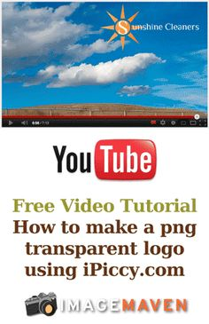 This tutorial shows you how to make a logo with a transparent background that you can use in your slide shows, videos, and photos. Great for making custom watermarks. Uses iPiccy.com which is a free online image editing software. Click to watch the YouTube video: http://www.youtube.com/watch?v=eCb6xbn8TYU