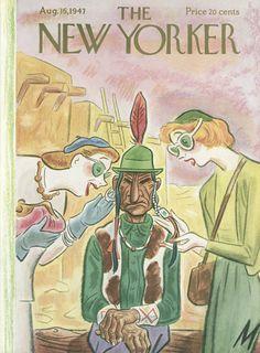 Julian de Miskey : Cover art for The New Yorker 1174 - 16 August 1947