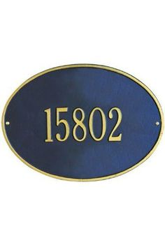 Hawthorne One-Line Standard Wall Address Plaque - standard/1 line, Navy Blue by Home Decorators Collection. $79.00. Hawthorne One-Line Standard Wall Address Plaque - This Premium, Textured And Dimensional Wall Address Plaque Is Designed With Large Numbers For Maximum Visibility Outdoors. The Standard Hawthorne Design Features A Sophisticated Oval Shape.Our Outdoor House Marker Is Built To Withstand The Elements. It Is Individually Handcrafted Of Hand-Cast Aluminum With ...