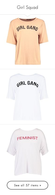 """""""Girl Squad"""" by briaud ❤ liked on Polyvore featuring tops, t-shirts, shirts, tees, cropped tops, beige t shirt, off shoulder shirt, off shoulder t shirt, crop t shirt and off the shoulder tops"""