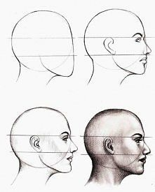 Zobacz zdjęcie Jak narysować twarz z profilu? Krok po kroku... Step by step ♥